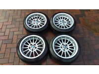 "17"" BMW Style 32 Wheels ( 8j 9j 3 5 Series E39 E36 E46 Staggered Dish BBS Ronal OZ )"