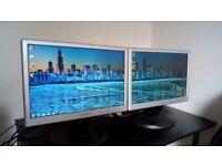 Hanns G HW173A dual computer monitors
