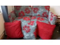 Stunning Sofa bed with extra cushions Excellent condition smoke & pet free home, pull out with slats