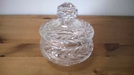 Crystal Glass Jar with Lid