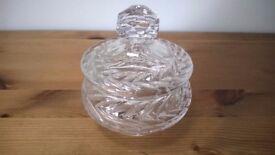 Crystal Glass Jar with Lid