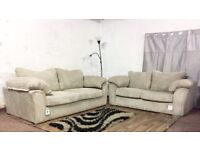 Brand new bouyant jumbo cord 3+2 seater sofas**Free delivery**