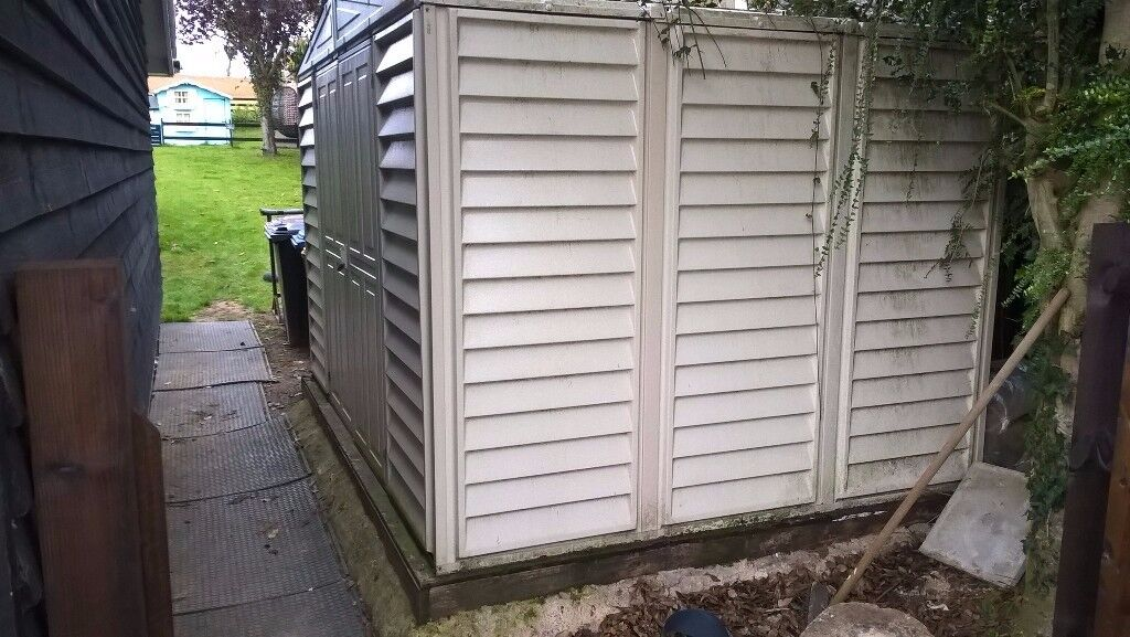 duramax 10ft x 8ft 32 x 24m vinyl garden shed