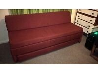 Sofa bed - red