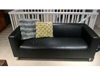 Modern leather effect sofa