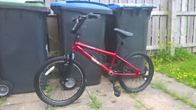 "BMX BIKE - ""RALEIGH BURNER ONE"" 20 INCH TYRES, 360 GYRO"