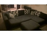 1 year old, dfs corner sofa