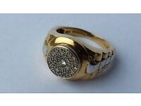 Gorgeus [9ct Gold - 0.5ct Diamond] Men's Ring