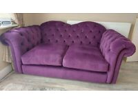 Nearly new Joules Windsor 2 seater sofa in purple or yellow