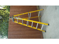 6ft STEP LADDERS [electricians] fibreglass