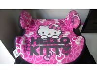 HELLO KITTY LOW BOOSTER SEAT 15-36KG FANTASTIC CONDITION JUST LIKE NEW, UNMARKED