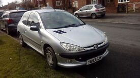 Peugeot 206 3 Door 1.4 Petrol With 25000 Miles From New