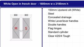 UPVC French door supply from £450