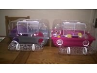 two savic dwarf hamster cages plus extras