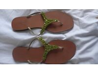 L K BENNETT leather summer sandals. Size: UK 7-7.5; EU 40, US 9.