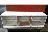 Triple canary or budgies finches breeder cage, just washed and disinfected BARGAIN