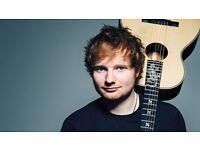 2x Ed Sheeran tickets seated - excellent seats - Birmingham - 29th April 2017