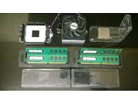 job lot bundle am2 amd athlon 64 x2 dual core + 4gb samsung ddr2 800 + cpu cooler + mounting bracket