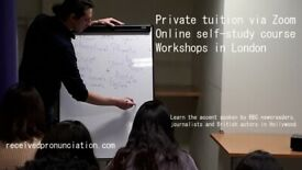 Received Pronunciation Online Course & Private Tuition (Accent Reduction & Elocution, English)