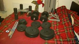 90kg weight and bench for sale