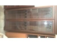 disdlay cabinet with glass doors and shelves delivery avalible