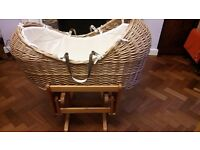 The Snug Moses basket and Gliding stand - Mothercare