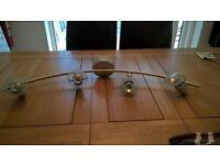 Lights - Silver Spotlight Bar (4 bulbs)