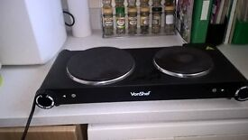 Two ring table top electric hob.