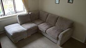 4 seater corner sofa and foot stool