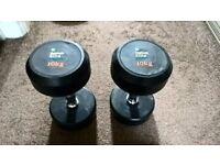 Mens Health Fixed Dumbell Weights 2 x 10kg