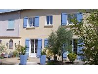 4 bedroom contemporary terraced house in beautiful village in S-W France, with garden & large garage