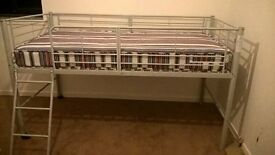 i have a brand new silver framed kids bed for sale. only seeling as my son doesnt like the hight