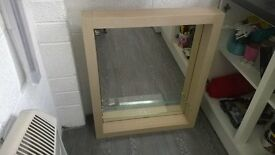 LARGE BATHROOM MIRROR WITH GLASS SHELF EXCELLENT CONDITION