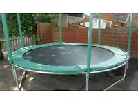 10 ft trampoline, barely used, 2 years old