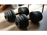 Robust Adjustable Dumb bell Weight Set (Like New)