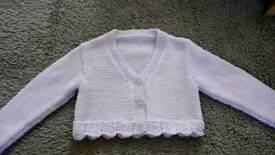 Hand knitted bolero cardigan, 1-2yrs