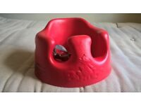Bumbo floor seat - Red - with tray - and original box - used