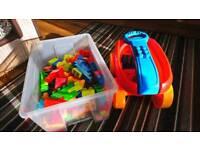 Toys cars and mega bloks