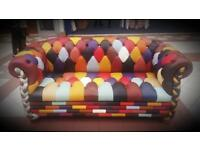 Beautifully coloured leather sofa set