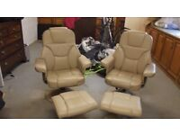 Cream Coloured Reclining Chairs