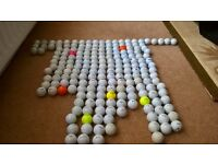 200 USED GOLF BALLS OF VARIOUS MAKES AND QUALITY