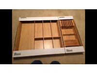 Ikea Wooden Cutlery Tray and Knife Rack