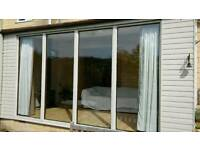 Lean to extension garden room - double glazed - glass for greenhouse/ cold frame / conservatory