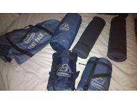 Eurohike 2 man dome tent + 2 sleeping bags + 2 ground mats