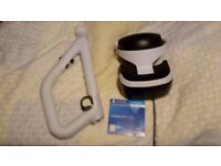 PlayStation vr with aim controller and demo disk. Used about 6 times. Unwanted gift.