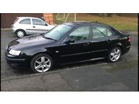 SaaB 1.9 tid diesel 2006 excelent condition taxed mot august 2017 leather gleeming black fsh 2 keys