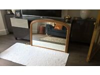 Large Antique Style Wooden Overmantle Mirror in Excellent Condition