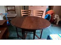 Dinning Table+2 Chairs+2 stools-table dark brown,chair light brown