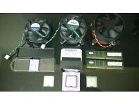 3x intel 775 cpu cooler 2x pentium 4 at 3.06ghz and 3.4ghz 1x dual core 2.0ghz + 2gb ddr2 memory