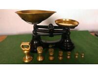 Vintage Kitchen Scales - with weightsi